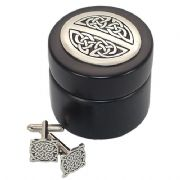 Celtic Knot Cufflinks With Wooden Box
